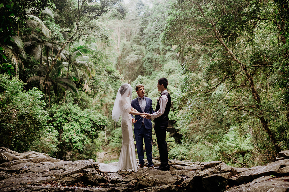 Currumbin Valley Rockpools Elopement - Sharon & Bryan - Gold Coast - Hitched In Paradise